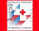 FRANCIA - Usato - 1988 - 125 Anni Della Croce Rossa - Red Cross - 2.20+0.60 - Francia