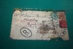 CURIOSITE - 1899 - SOUTH WALES - Tres Sucharge , Erreur D'adresse , 3 Timbres Et Tampons - Tasse