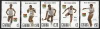Ghana 1984 Olympic Games Los Angeles Athletics Boxing Field Hockey Hurdles Rhytmic Gymnastics MNH Set - Ghana (1957-...)