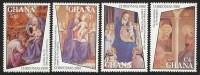 Ghana 1980 Christmas Fra Angelico Paintings MNH Set - Ghana (1957-...)