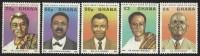 Ghana 1980 Famous Sons Of Ghana President Nkrumah MNH Set - Ghana (1957-...)