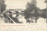 Liège.  -   Le Pont Du Chemin De Fer De Prés-Binet.   -   1902  Naar  Paris  -   Prachtige Kaart!   LOCO - Gares - Avec Trains