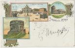 Pionniere Saluti Da Roma Stamped 1900 Color Vaticano - Autres