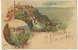 Pionniere Saluto Da Roma Stamped 1900 Color Tivoli Castelli Romani - Autres