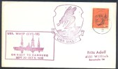 Germany Deutschland 1968 Cover: USS Wasp (CVS-18) On Visit To Hamburg; Ships Transport; Animals Fauna WASp WESPE - Insectos