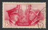 Italy, 75 C. 1941, Sc # 417, Mi # 627, Used. - 1900-44 Vittorio Emanuele III