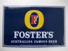 """Plaque émaillée - Bière """" FOSTER'S """" - Advertising (Porcelain) Signs"""