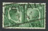Italy, 25 C. 1941, Sc #415, Mi # 625, Used. - 1900-44 Vittorio Emanuele III