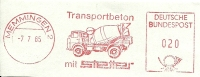 Nice Cut Meter  Transport Concrete By Stetter, Memmingen, 2/7/1965 - Vrachtwagens