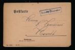 DUITSE MILITAIRE POST - BAHNHOF WESPELAER 1916  - 2 AFBEELDINGEN