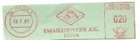 Nice Cut Meter  FAG Emailirwerk Fulda 18/7/1961 - Porselein