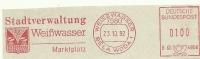 Nice Cut Meter  Stadtverwaltung WEISSWASSER 23/10/1992 - Dranken
