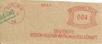 Nice Cut Meter Deutsche Boden-Kultur-Aktingesellschaft, Berlin 21/4/1931 - Andere