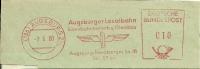 Nice Cut Meter Augsburger Localbahn, Eisenbahnbetrief Und Gleisbau, Augburg 3/6/1960 - Treinen