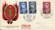 TUNISIE 1954 FDC 2EME FOIRE INTERNATIONALE DE TUNIS - Tunisia (1888-1955)