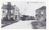 St Georges s/Meuse - Arr�t du tram (autocollant 1983 - format carte postale)