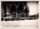 Photographie Originale - Portes D'entrée De La Cathédrale De Reims 1918 - Guerre, Militaire