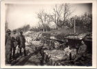 Photographie Originale - Inspection Des 1ere Lignes Près De PERONNE - Oct 1916 - Guerre, Militaire