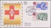 Monaco 1994 Y&T 1960/1. Croix-Rouge, Lutte Contre Le Cancer Et Le Sida, Sur FDC Soie - Rode Kruis