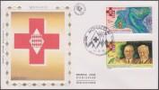 Monaco 1996 Y&T 2063/4. Croix-Rouge, Lutte Contre La Tuberculose, Guérin Et Calmette, Sur FDC Soie - Rode Kruis