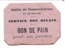 """1830 : Carton """"Service Des Bivacs/BON DE PAIN"""" (Eclaireurs De Bruxelles) Avec Cachet Au Dos """"UNION FORCE"""". RR - Dokumente"""