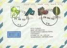 Brasil Brazil 1998 Caxias Do Sul Indicolita Alexandrita Cat Eye Minerals Lemon Cover - Mineralen