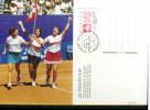 Schweiz / Switzerland / Suisse 1998 Final Tennis Fed Cup  Switzerland - Spain Postcard (2) FDC - Tenis