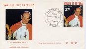 WALLIS ET FUTUNA - SA SAINTETE PAUL VI - FDC ILLUSTREE ET NUMEROTEE (3000 Ex) N°001177 - FDC