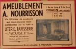 Buvard Ameublement A. Nourrisson. Literie Tapisseie Meubles. Craon (Mayenne). Vers 1950 - Löschblätter, Heftumschläge