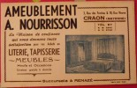 Buvard Ameublement A. Nourrisson. Literie Tapisseie Meubles. Craon (Mayenne). Vers 1950 - Carte Assorbenti