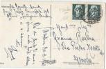 LBL34 - CP AU DEPART DE MENTON (OCCUPATION ITALIENNE) POUR GENOVA 31/3/1943 - 2. Weltkrieg