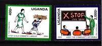 2004 Prevention Of Child Labour   Children Education Complete Set Of 2  MNH - Uganda (1962-...)