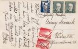 Österreich Nachporto (2xAnk133+139) Auf Ak NITRA Tschechoslowakei 1930? - Portomarken