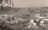 1958 RP Swedish American Line Postcard, Panoramic  View Of Acapulco (Hotel Caleta, Buildings), Mexico (ref.# 3024se) - Mexique