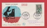 Enveloppe  //  Premier Jour  //  Pierre Fauchard   // 1er Chirurgien Dentiste En France  // Paris //  1 Juillet  1961 - FDC