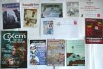 Lot 10 Docs  BD PUBS // DI SANO, LABIANO, MÉZIÈRES... TB - Objets Publicitaires