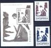 AL 1997-2621-3 FAMOUS PERSON FALK KONICA, ALBANIA, 2v + S/S, MNH - Albanie