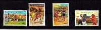 2000 Olympics Football Basketball Complete Set Of 4  MNH - Tansania (1964-...)