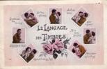 """Fantaisie.. Langage Des Timbres """"je Vous Aime"""" """"je Pense à Vous"""" """"Mille Bons Baisers"""" - Stamps (pictures)"""
