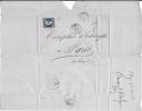 LF 558 Lettre De 1856 En Provenance D'Alger à Destination De Paris Timbre N°14Aa - Poststempel (Briefe)