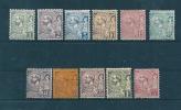Monaco Timbre De 1891/94  N°11 A 21  Neuf  Charnière   (cote 1005€) - Unused Stamps