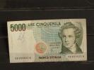 5000 Lire - V. Bellini - 1985 - Serie SD - Usagé Mais TB état - Scan Recto Verso - [ 2] 1946-… : République