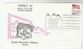 1991 Purple Mountain USA EVENT COVER Illus PANNING FOR GOLD Mining  Stamps Minerals - Minerals