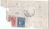 LBL34 - FRANCE - BOULE DE MOULINS  AFFR.T BORDEAUX 20c + 80c TRÈS DÉTÉRIOREE NÉANMOINS RARE - 1870 Siège De Paris