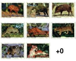 Ref. 29257 * MNH * - NICARAGUA. 1974. ANIMALS OF SAN DIEGO ZOO . ANIMALES DEL PARQUE ZOOLOGICO DE SAN DIEGO - Timbres
