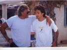 Johnny Hallyday Photo Authentique Avec Pierre Palmade Chanteur Rockeur Rock Artiste Vedette Musicien Concert Show Acteur - Cantanti E Musicisti