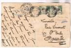 INDOCHINE 5C PAIRE DE CARNET CARTE 14 JUILLET SAIGON 1906 RARE - Storia Postale