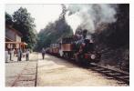 07 Colombier Le Vieux St Barthélémy Le Plain C.F Du Vivarais PHOTO Train Locomotive Vapeur Le 24/08/91 Voir DOS - Trains