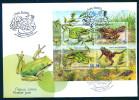 TH Belarus 2015 Frogs Amphibians Fauna FDC _ Bl. - Frogs