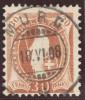 Heimat SG Murg 1908-06-18 Vollstempel Auf Zu#96B Stehende Helvetia - 1882-1906 Stemmi, Helvetia Verticalmente & UPU